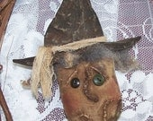Instant Download PATTERN PRIMITIVE WITCH Ornament  Quick and Easy Prim Fun to Make