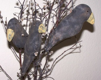 PRIMITIVE Big Beak CROW Ornie PATTERN Instant Download Quick and Easy