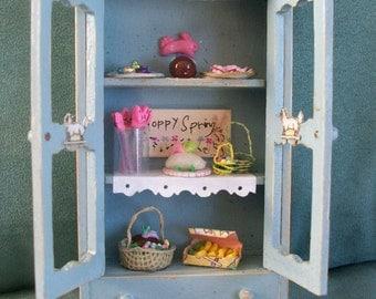 miniature Easter cabnet