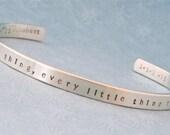 CUSTOM Cuff Personalized Sterling Silver Bracelet - PERSONALIZED Bracelet - Men & Women
