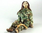 Forest Woman - Regeneration - porcelain sculpture