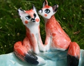 Foxy Bowl - Two Foxes