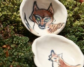 trinket bowls - out foxed - porcelain salt bowl