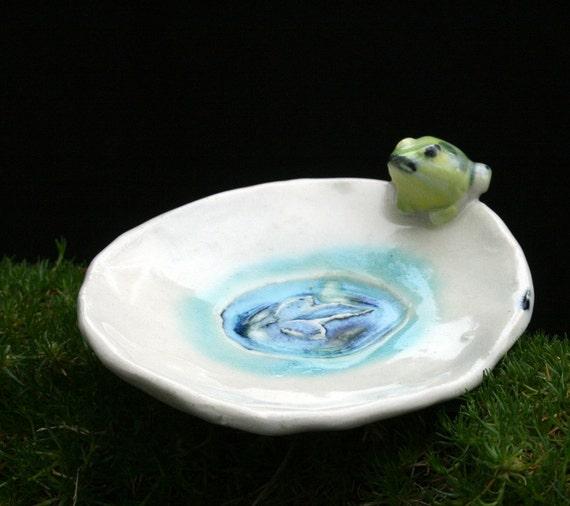 trinket dish- happy frog - candle holder