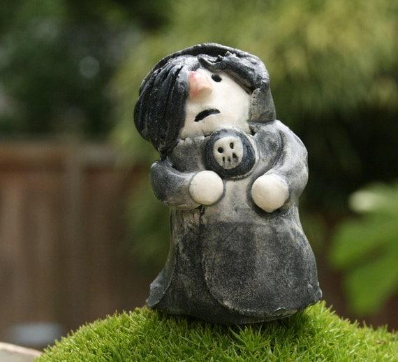 gnome figurine - Igor's Day Out - porcelain figurine