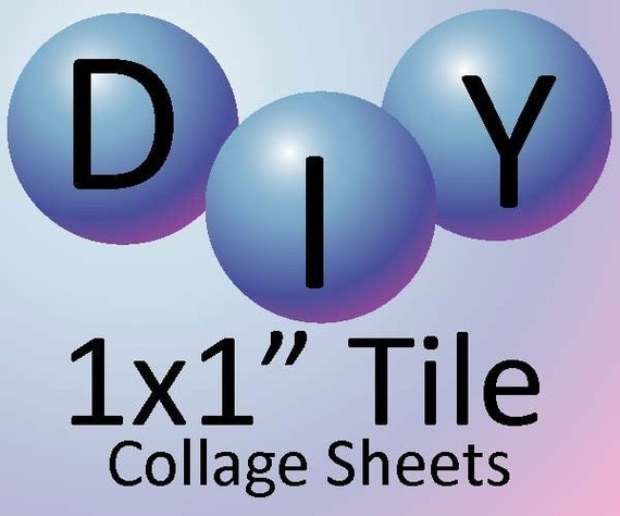 Do it Yourself-- 1x1inch Tile Collage Tutorial and Template