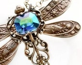 Dragonfly Necklace Federikas Art Deco Pendant Jewelry