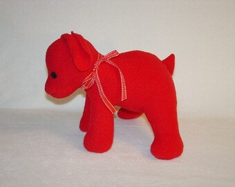 Red Plush  Puppy - Pixie