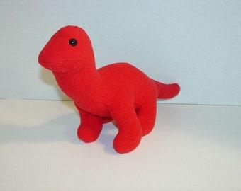 Red Brontosaurus  Dinosaur  Handmade