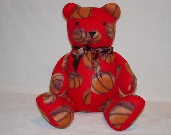 Teddy Bear Plush Basketball