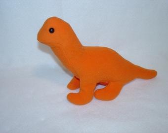 Orange Brontosaurus Dinosaur Plush