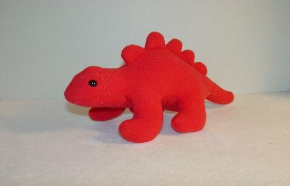 Red Stegosaurus Dinosaur Plush