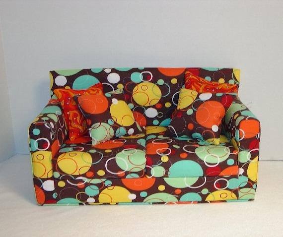 18 Inch Doll Sofa, Colorful, Modern Style, American Girl