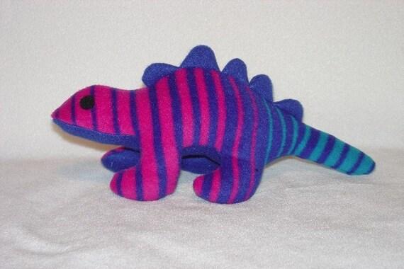 Blue Stripes Stegosaurus Plush Dinosaur