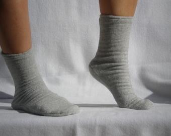 Polar Fleece Socks or Slippers Gray