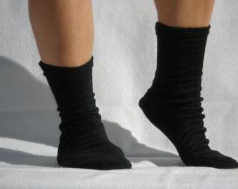 Polar Fleece Socks Slippers Black