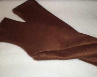Polar Fleece Socks or Slippers Brown