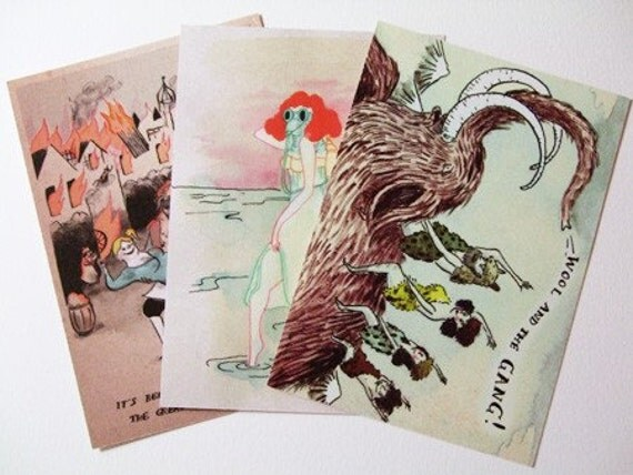 Postcards for Time Travelers (pack of 3)
