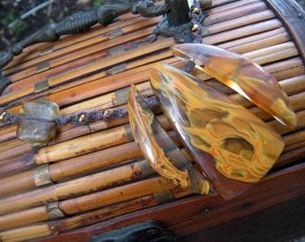 Tropical and Desert Arachnid- Fire Marble Glass-BEETLE- Necklace- Tarantula Charm
