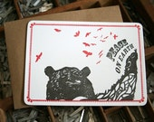 20% off Letterpress Bear holiday card set of 8