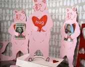 letterpress Valentine Bear Hug card