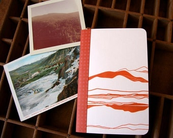 letterpress notebook Vista landscape