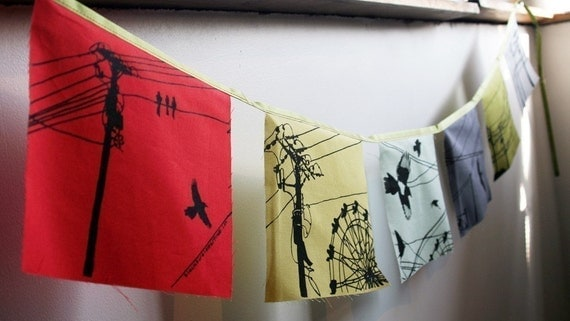 Powerline screenprinted flags