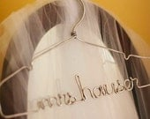 The Original Silver Lingerie, Personalized Wire Wedding Dress Hanger