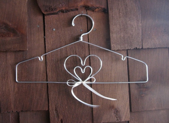The Original Double Heart Lingerie Hanger or Home or Wedding Decoration