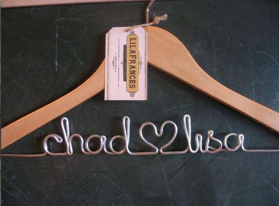 Personalized Wedding Hanger Blonde, Natural Wood Oak