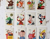 vintage playing cards ephemera circus