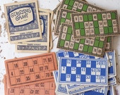 vintage retro collection of 53 lotto and game playing cards