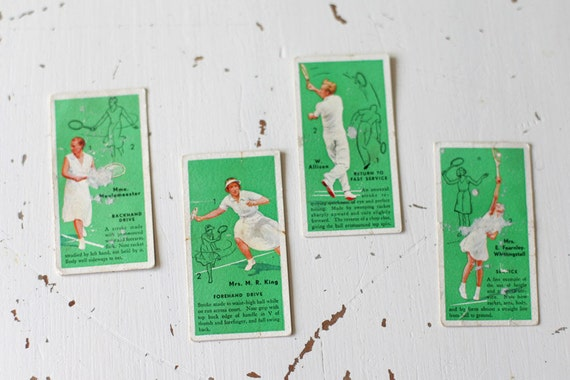 vintage tennis cigarette playing cards
