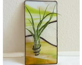 Stained glass Panel Air Plant Holder-   Mustard Valley