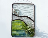 Stained Glass Panel Air Plant Holder - Bubble Canyon