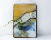 Stained Glass Panel Air Plant Holder - Swept Canyon 2