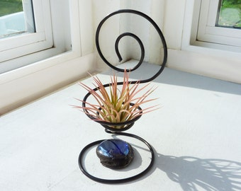 Wire Chair Air Plant Holder - pick your color bead