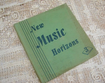 Vintage 1944 Childrens Song Book New Music Horizons Scrapbooking Altered Art Supplies