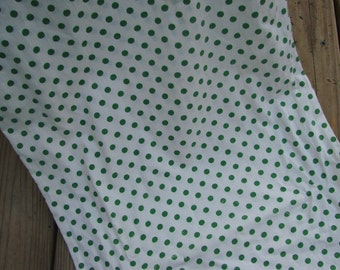 Vintage Bright Green Polka Dot Cotton Bolster Pillowcase Cover