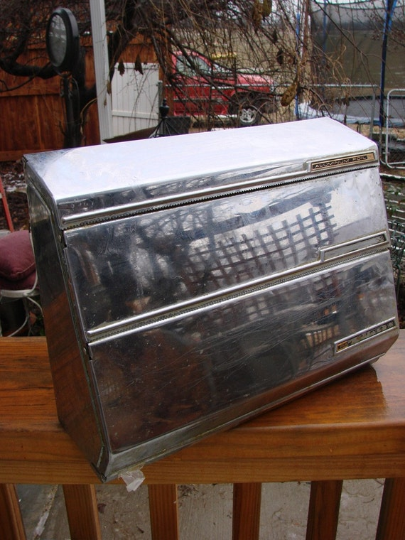 Vintage Chrome Lincoln BeautyWare Paper Towel Wax Paper and Foil Dispenser