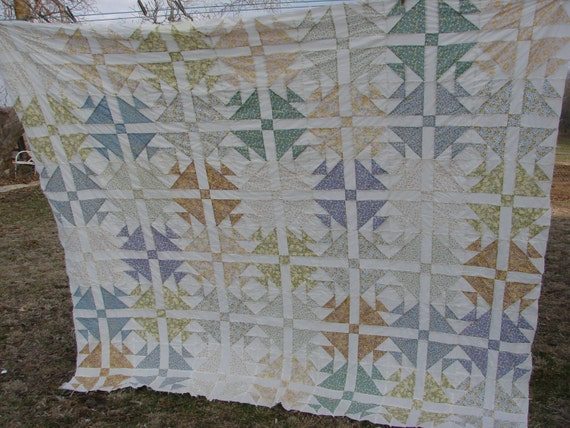 Vintage Kentucky Made Patterned Quilt Top