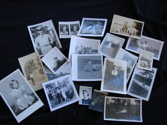 Vintage Lot of 20 Black and White Photographs