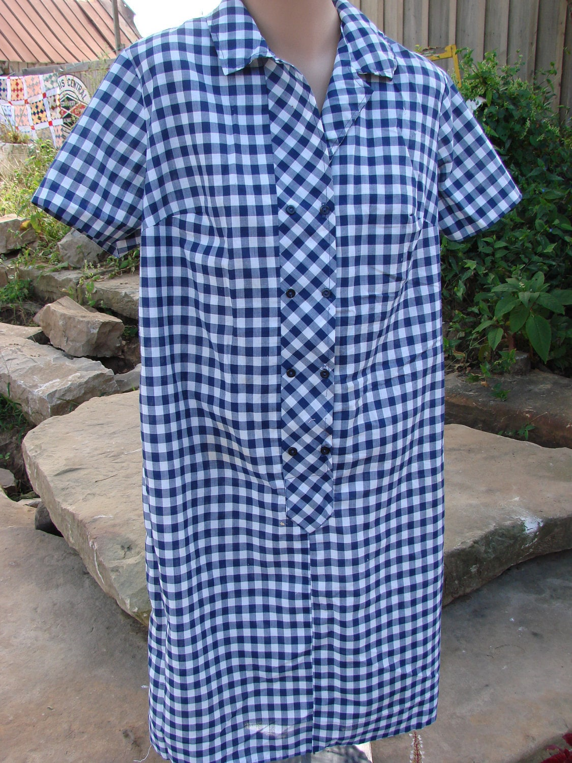 Elegant Short Sleeve Polyester House Dress35 Off  Buck Amp Buck