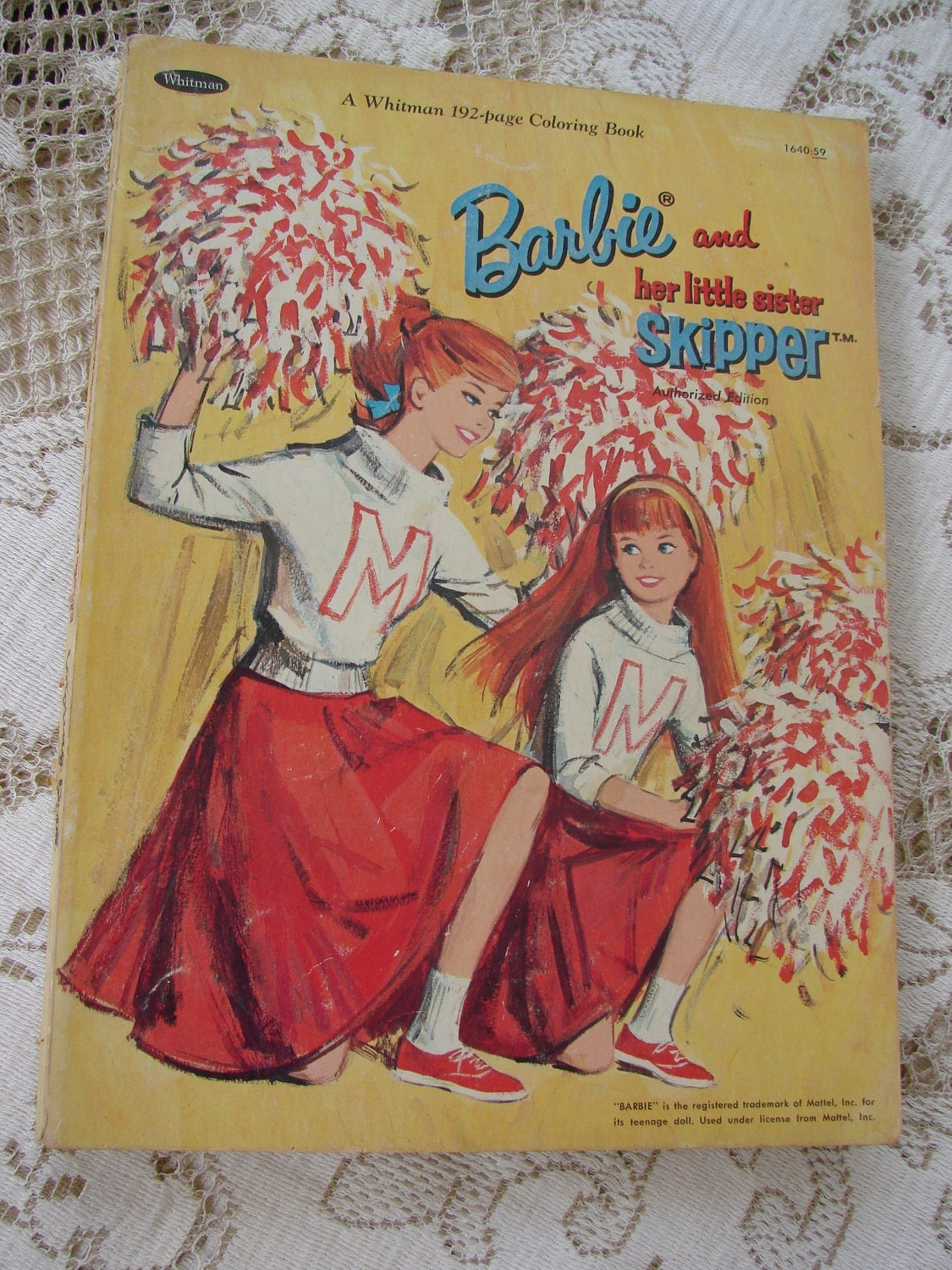 VIntage 1965 Barbie And Skipper Whitman Coloring Book