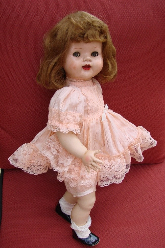 Vintage 1950s Ideal Doll Co Saucy Walker Jointed Leg Doll