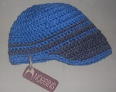 SALE Merino Wool Beanie w\/ visor, Toddler size