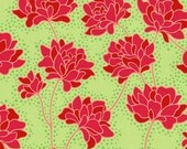 Heather Bailey, Peonies in Green, Pop Garden Fabric, 1 Yard