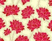 Heather Bailey, Peonies in Ivory, Pop Garden Fabric, 1 Yard