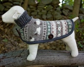 Dog Coat in Felted Wool Tiny Breed Size - HuzzahHandmade