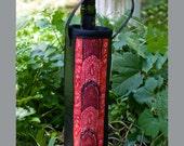 Wine Tote Cozy in Bold Batik - HuzzahHandmade